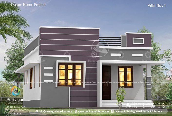 699 Square Feet Single Floor Low Cost Home Design