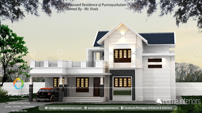 2334 Square Feet Double Floor Contemporary Home Design