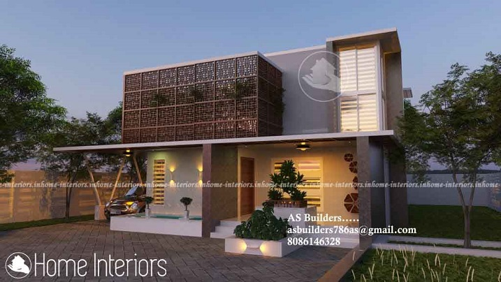2200 Square Feet Double Floor Contemporary Home Design