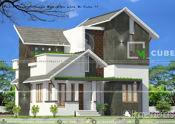 1160 Square Feet Double Floor Low Cost 3 BHK Home Design