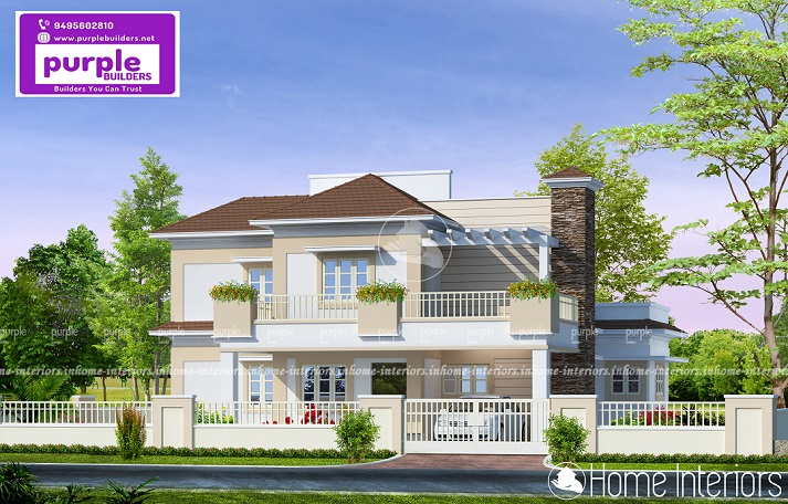 2567 Square Feet Double Floor Contemporary Home Design