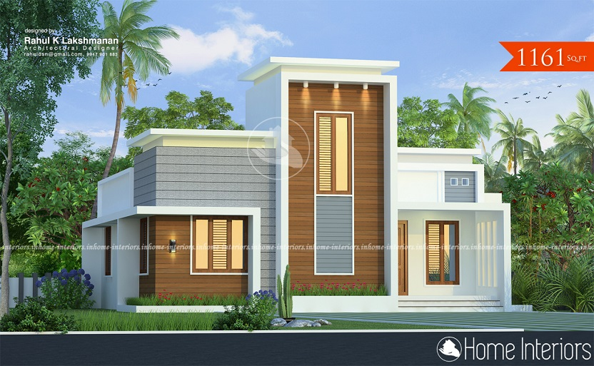 1161 Square Feet Single Floor Contemporary Home Design