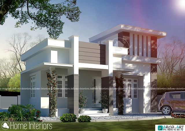727 Square Feet Single Floor Contemporary Home Design