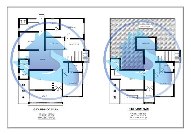 2718 Square Feet Double Floor Contemporary Home Design