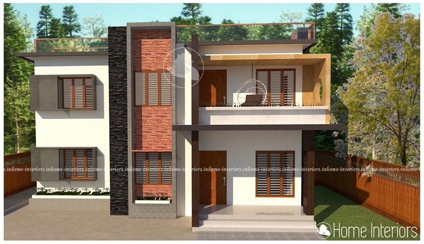 1308 Square Feet Contemporary Double Floor Home Design