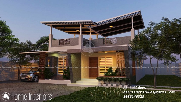 1150 Square Feet Single Floor Contemporary Home Design