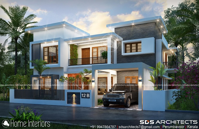 2941 Square Feet Double Floor Contemporary Home Design