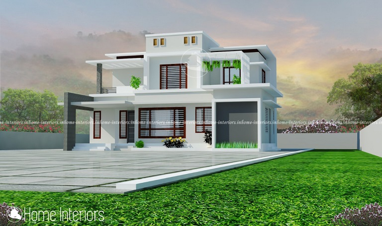 1700 Square Feet Contemporary Double Floor Home Design