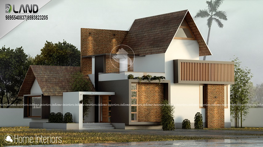 1850 Square Feet Contemporary Double Floor Home Design