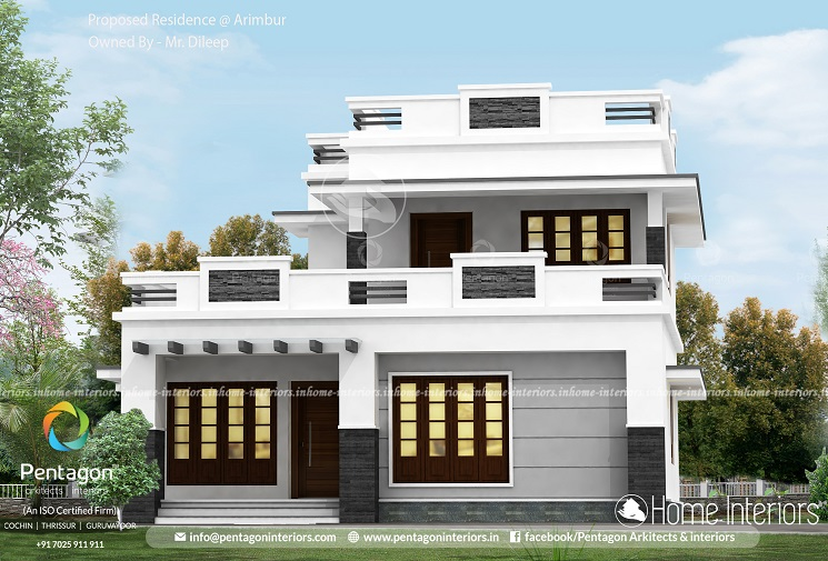 1689 Square Feet Double Floor Contemporary Home Design