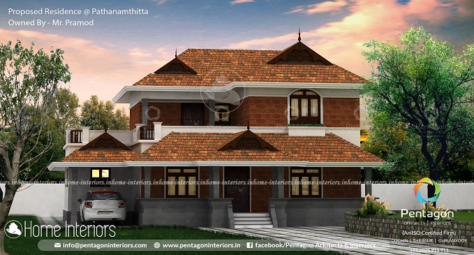 2692 Square Feet Double Floor Traditional Home Design
