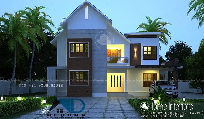1650 Square Feet Contemporary Double Floor Home Design