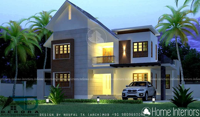 1650 Square Feet Contemporary Double Floor Home Design