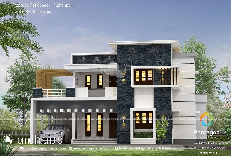2003 Square Feet Double Floor Modern Home Design