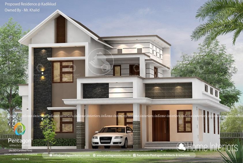 2154 Square Feet Double Floor Contemporary Home Design