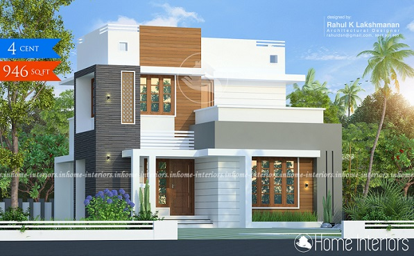 946 Square Feet Single Floor Contemporary Home Design