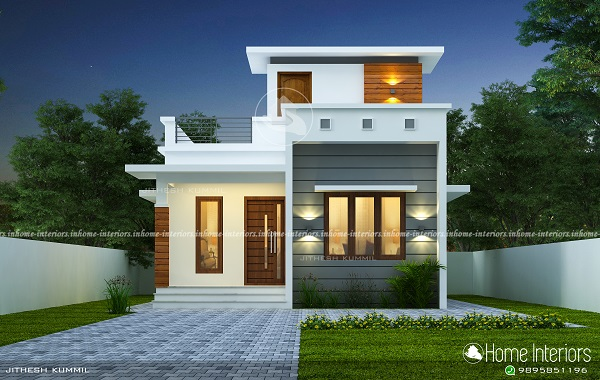 830 Square Feet Contemporary Single Floor Home Design