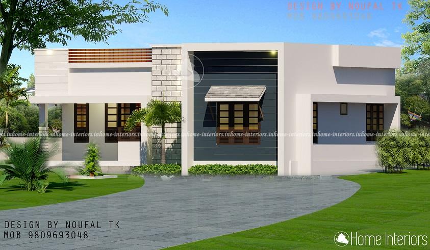 800 Square Feet Contemporary Single Floor Home Design