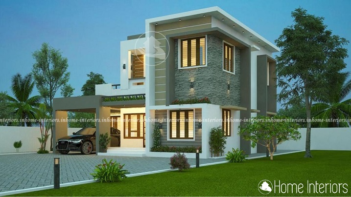 1858 Square Feet Double Floor Contemporary Home Design