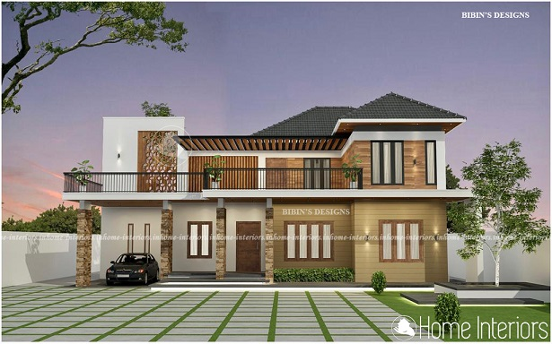 2953 Square Feet Double Floor Contemporary Home Design