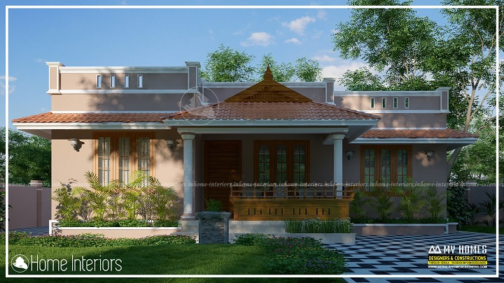 1150 Square Feet Single Floor Low Cost Traditional Home Design