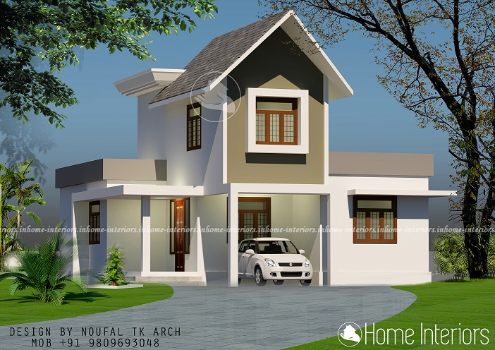 1350 Square Feet Contemporary Double Floor Home Design