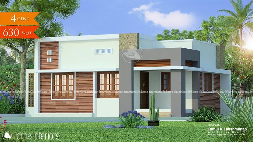 630 Square Feet Contemporary Single Floor Home Design