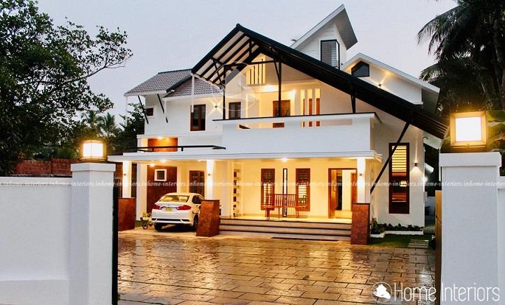 2550 Square Feet Double Floor Contemporary Home Design
