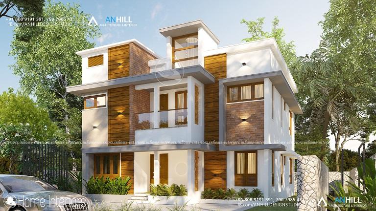 2084 Square Feet Double Floor Contemporary Home Design