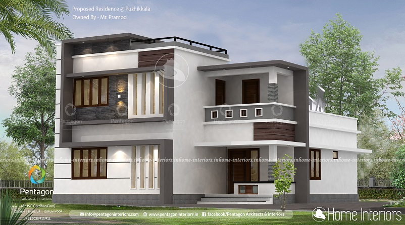 1483 Square Feet Double Floor Contemporary Home Design