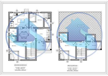 1483 Square Feet Double Floor Contemporary Home Design