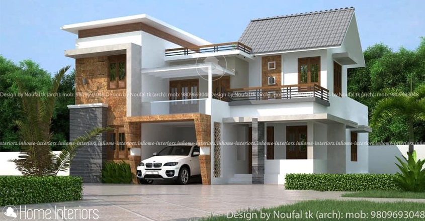 1600 Square Feet Double Floor Low-Cost Home Design