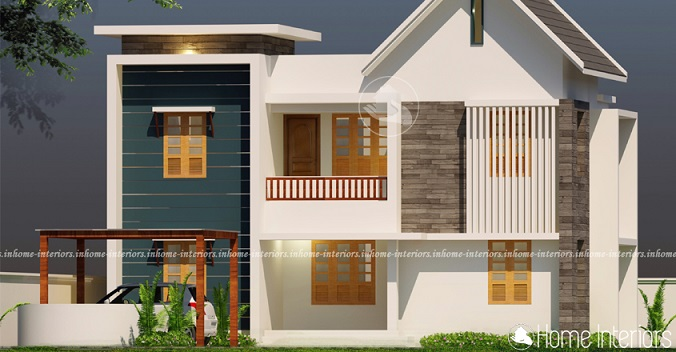 1400 Square Feet Double Floor Low-Cost Home Design
