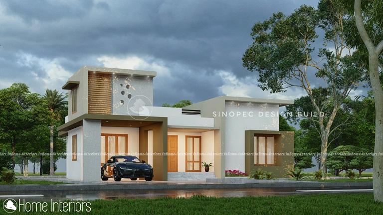 1333 Square Feet Single Floor Contemporary Home Design