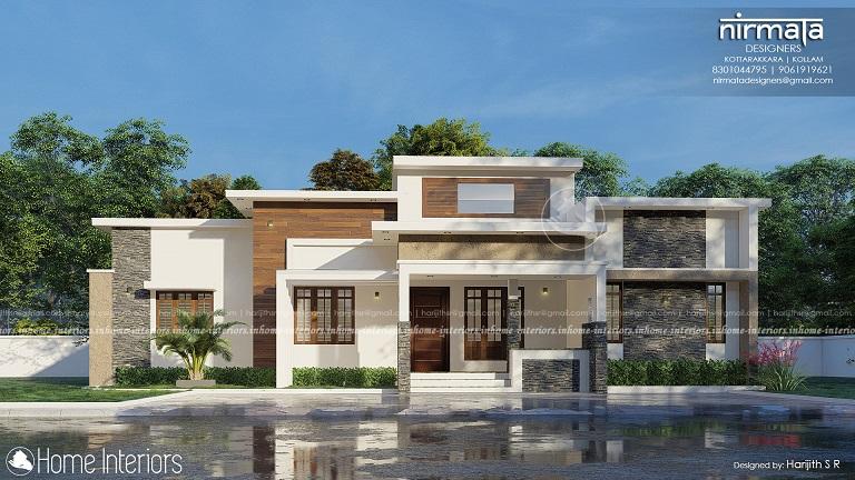 1830 Square Feet Single Floor Contemporary Home Design