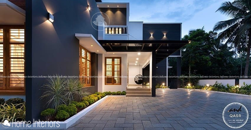 4900 Square Feet Double Floor Contemporary Home Design
