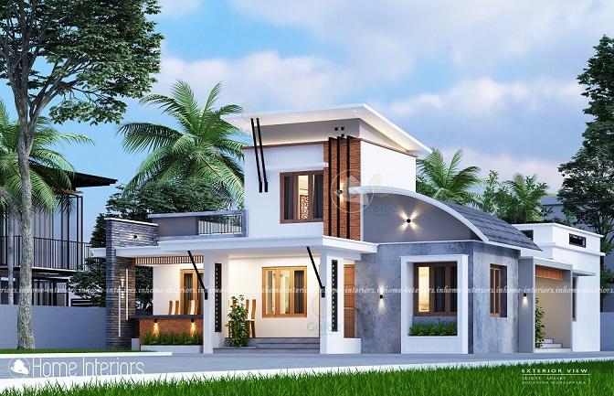 1788 Square Feet Single Floor Contemporary Home Design