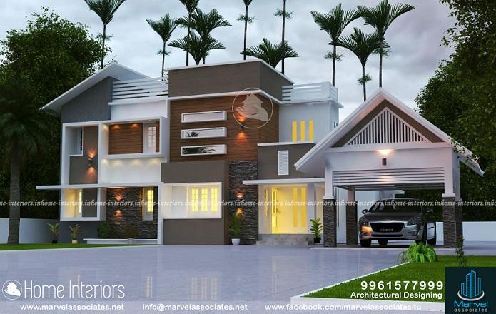 2578 Square Feet Double Floor Contemporary Home Design