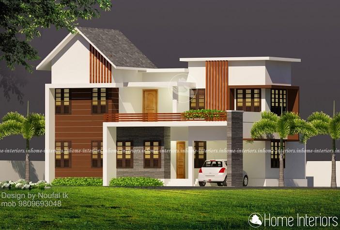1640 Square Feet Double Floor Contemporary Home Design