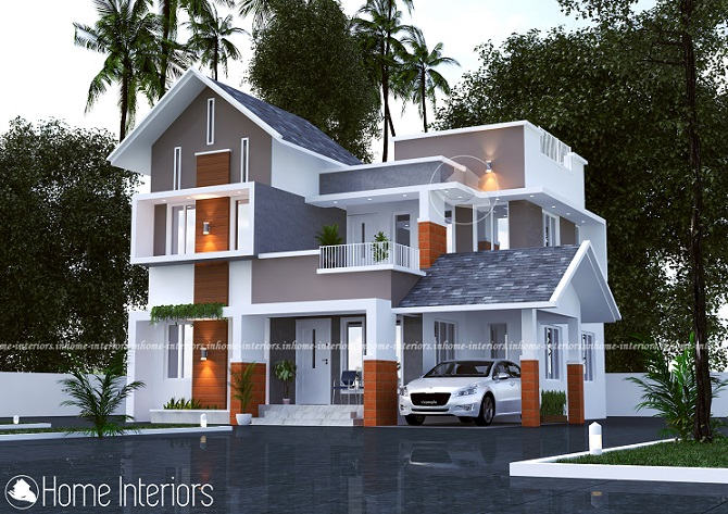 1619 Square Feet Double Floor Contemporary Home Design