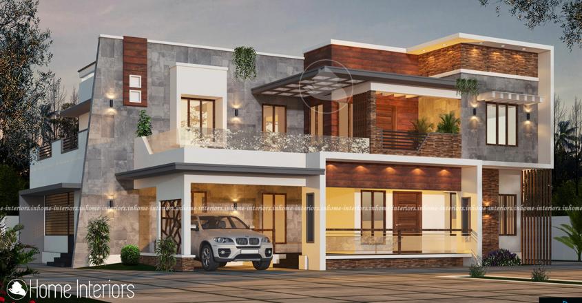 2958 Square Feet Double Floor Contemporary Home Design