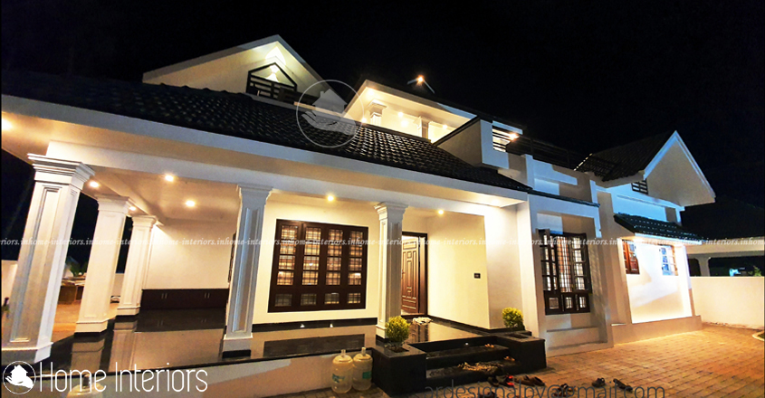2975 Square Feet Double Floor Traditional Home Design