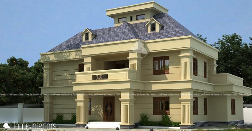 3000 Square Feet Double Floor 4 BHK Kerala Home Design