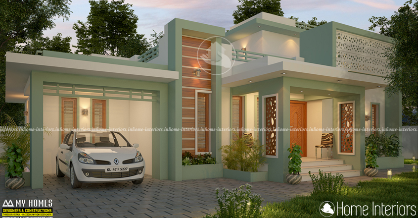 1500 Square Feet Single Floor Low Cost Home Design