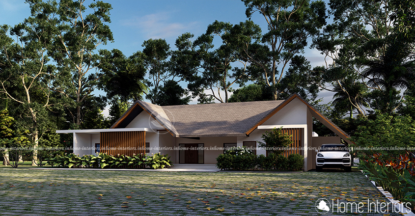 2000 Sq Ft Single Floor Contemporary 3BHK Home Design