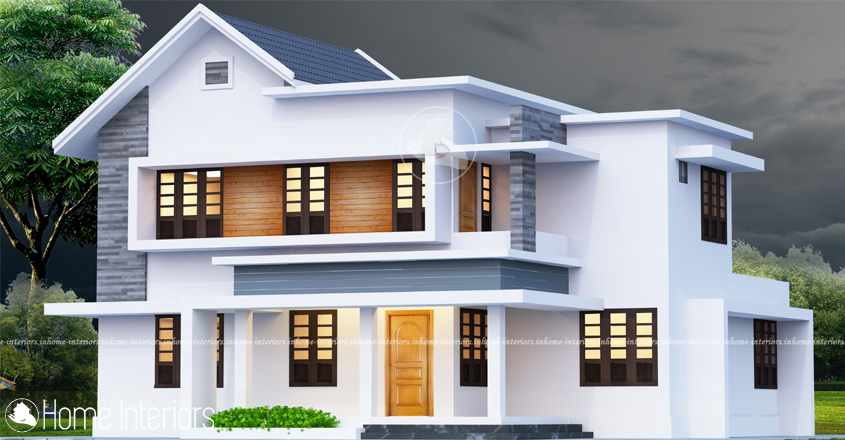 1450 Square Feet Double Floor Low-Cost Home Design
