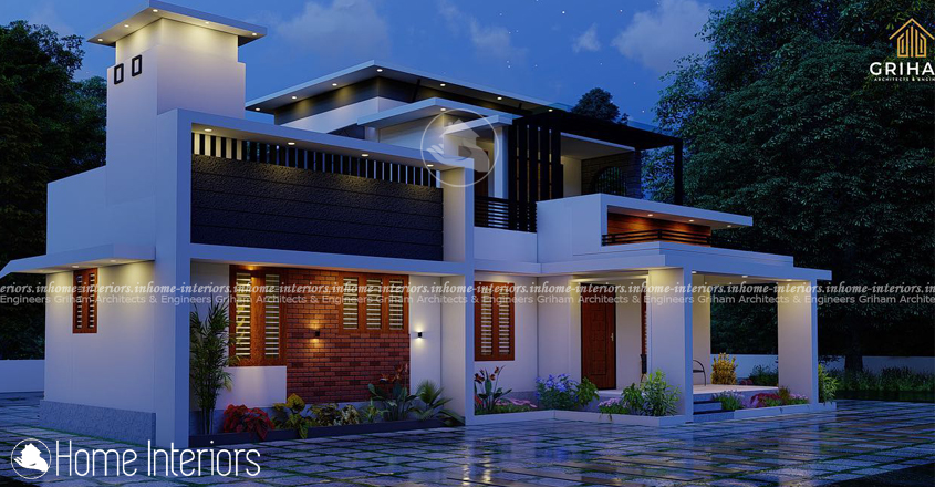 1416 Square Feet Double Floor Contemporary Home Design