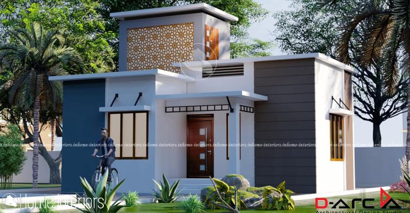 675 Square Feet Contemporary Single Floor Home Design